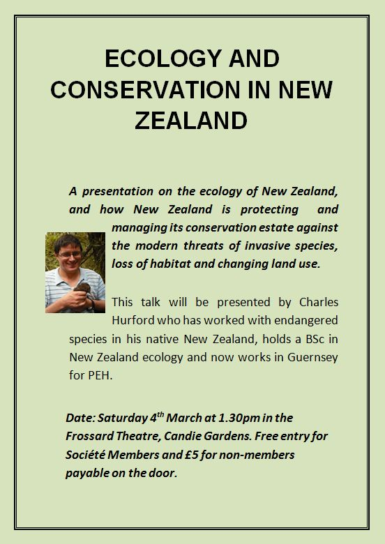 New Zealand Conservation Lecture